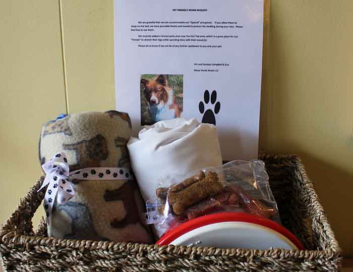 Goodie Basket for Dogs at Mesa Verde Motel